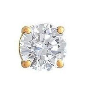 Men's jewelry single earring 1 ct. diamond stud ea